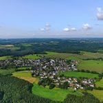 Luftbild vom Höhendorf Rüggeberg