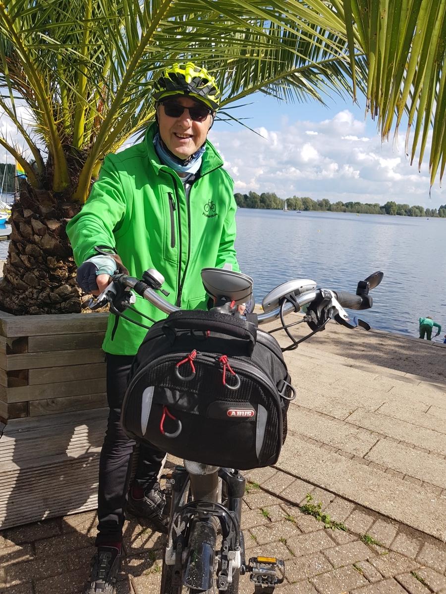 Heinz auf Radtour am Niederrhein