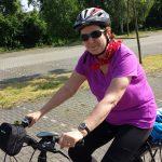 Marion die Frau von Heinz ist auch auf Radtour