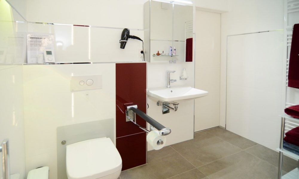 Bild zeigt die moderne Ferienwohnung Ehmann mit höhenverstellbarer Toilette