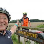 Heinz und kumpel Jost auf dem Ruhrtalradweg 236 Km an einem Tag